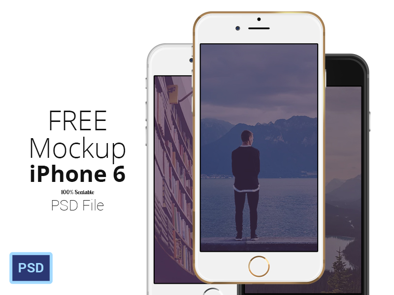 FREE iPhone 6 – Scalable Mockups 4.7′